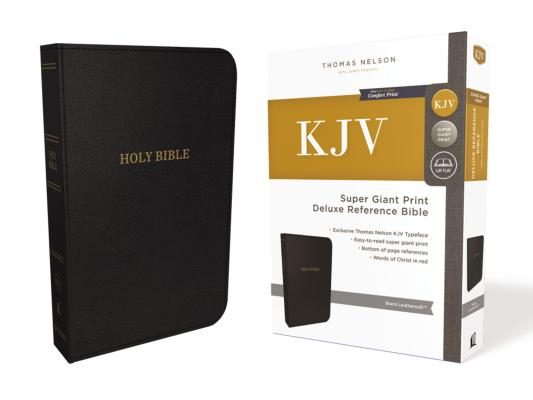 Image for KJV Deluxe Reference Bible Super Giant Print Imitation Leather Black Red Letter Edition