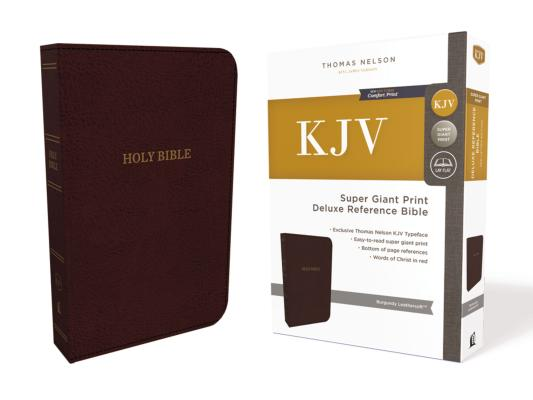 Image for KJV Deluxe Reference Bible Super Giant Print Imitation Leather Burgundy Red Letter Edition