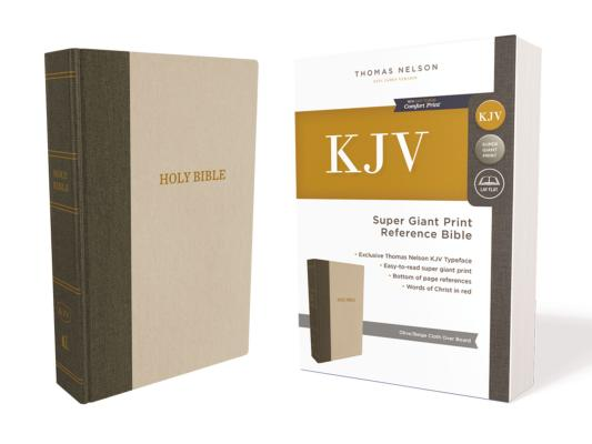 Image for KJV, Reference Bible, Super Giant Print, Hardcover, Green/Tan, Red Letter Edition, Comfort Print