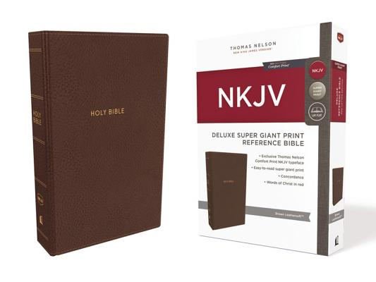 Image for NKJV, Deluxe Reference Bible, Super Giant Print, Leathersoft, Brown, Red Letter Edition, Comfort Print: Holy Bible, New King James Version