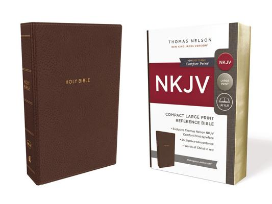 Image for NKJV, Reference Bible, Compact Large Print, Leathersoft, Brown, Red Letter Edition, Comfort Print: Holy Bible, New King James Version