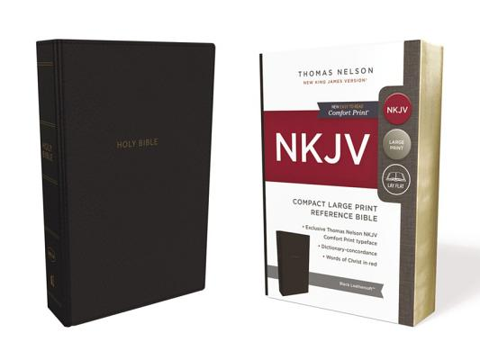 Image for NKJV, Reference Bible, Compact Large Print, Leathersoft, Black, Red Letter Edition, Comfort Print: Holy Bible, New King James Version
