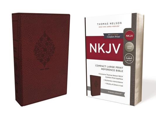 Image for NKJV, Reference Bible, Compact Large Print, Leathersoft, Burgundy, Red Letter Edition, Comfort Print: Holy Bible, New King James Version