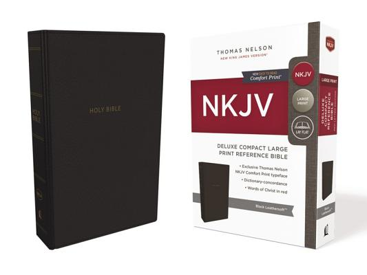 Image for NKJV, Deluxe Reference Bible, Compact Large Print, Leathersoft, Black, Red Letter Edition, Comfort Print: Holy Bible, New King James Version