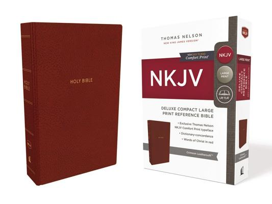 Image for NKJV Deluxe Ref Bible Compact LP Crimson