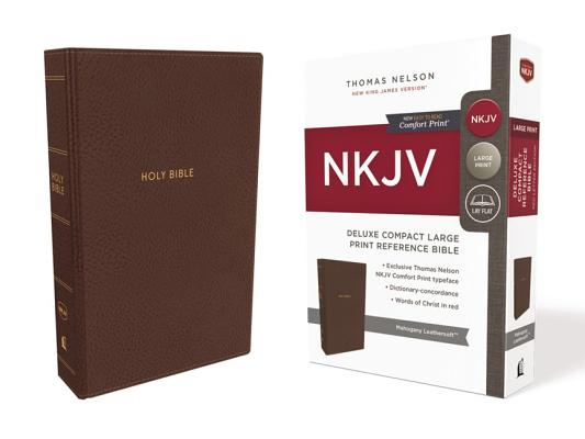 Image for NKJV, Deluxe Reference Bible, Compact Large Print, Leathersoft, Brown, Red Letter Edition, Comfort Print: Holy Bible, New King James Version