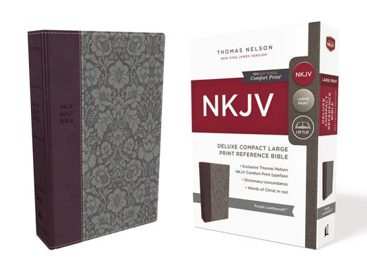Image for NKJV, Deluxe Reference Bible, Compact Large Print, Leathersoft, Purple, Red Letter Edition, Comfort Print: Holy Bible, New King James Version