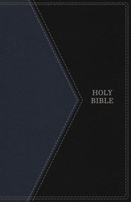 "Image for ""''KJV Thinline Bible Large Print Leather Look Black and Blue, Indexed''"""
