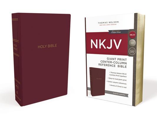 Image for NKJV Ref Bible Center-Column GP Leather-Look Burgundy RL Comfort Print