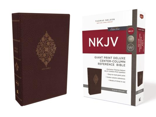 Image for NKJV Deluxe Ref Bible Center-Column GP LS Burgundy RL Comfort Print