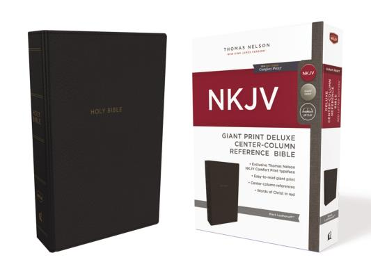 Image for NKJV Deluxe Ref Bible Center-Column GP LS Black RL Comfort Print