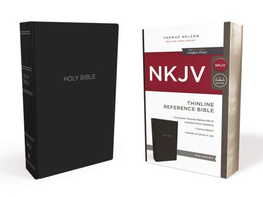 Image for NKJV, Thinline Reference Bible, Leather-Look, Black, Red Letter Edition, Comfort Print: Holy Bible, New King James Version