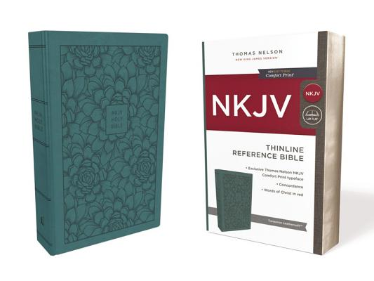 Image for NKJV, Thinline Reference Bible, Leathersoft, Turquoise, Red Letter Edition, Comfort Print: Holy Bible, New King James Version