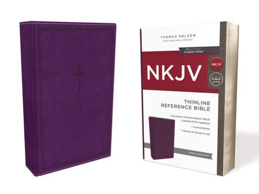 Image for NKJV Thinline Ref Bible LS Purple RL Comfort Print