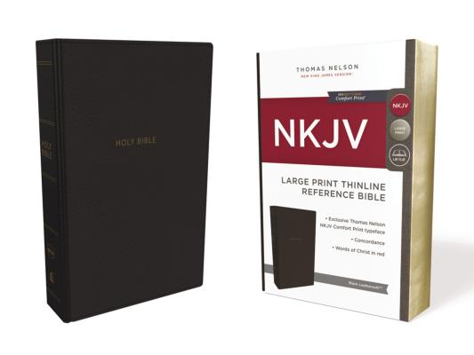 Image for NKJV, Thinline Reference Bible, Large Print, Leathersoft, Black, Red Letter Edition, Comfort Print: Holy Bible, New King James Version