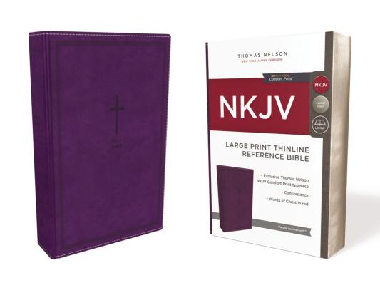 Image for NKJV Thinline Ref Bible LP LS Purple RL Comfort Print