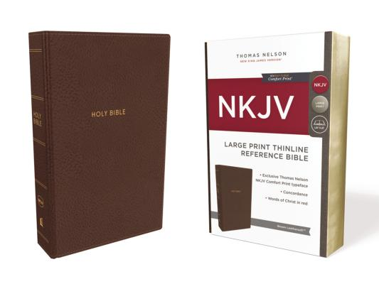 Image for NKJV, Thinline Reference Bible, Large Print, Leathersoft, Brown, Red Letter Edition, Comfort Print: Holy Bible, New King James Version