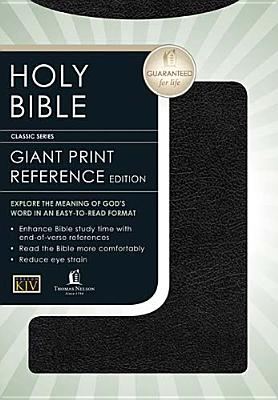 Holy Bible: King James Version, Black, Bonded Leather, Deluxe Personal Size Reference Bible