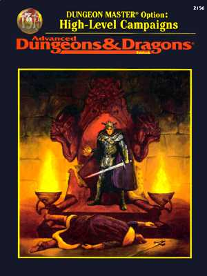 Image for Dungeon Master Option: High-Level Campaigns (Advanced Dungeons & Dragons, 2nd Edition: Rulebook/2156)