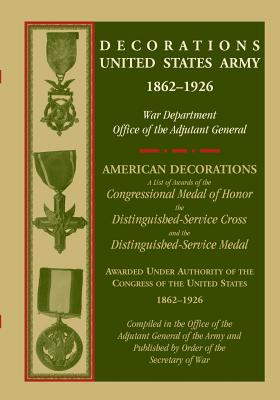 Image for Decorations United State Army, 1862-1926