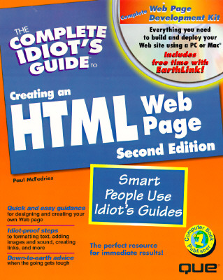 Image for The Complete Idiots Guide to Creating an HTML Web Page; With CDROM