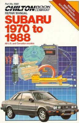 Image for Subaru 1970-88 (Chilton's Repair Manual)