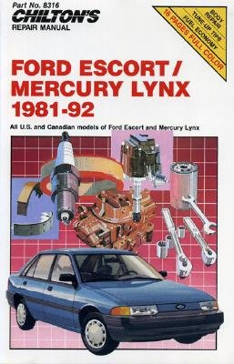 Image for CHILTON'S FORD ESCORT AND MERCURY LYNX 1981-92 REPAIR MANUAL