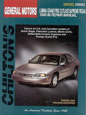 Image for GM Lumina, Grand Prix, Cutlass Supreme, and Regal, 1988-96 (Chilton's Total Car Care Repair Manual)