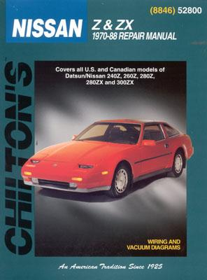 Image for Nissan Z & ZX, 1970-88 (Chilton Total Car Care Series Manuals)