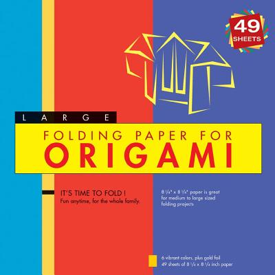 """Folding Paper for Origami: Large 8 1/4"""" 49 Sheets"""
