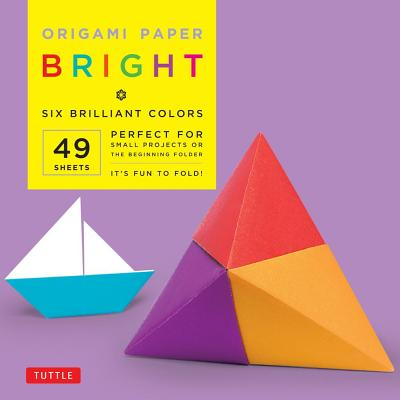 "Origami Paper - Bright Colors - 6"" - 49 Sheets: Tuttle Origami Paper: High-Quality Origami Sheets Printed with 6 Different Colors: Instructions for Origami Projects Included"