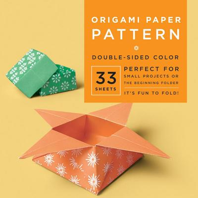 """Origami Paper - Pattern - 6 3/4"""" - 33 Sheets: Tuttle Origami Paper: High-Quality Origami Sheets Printed with 4 Different Designs: Instructions for 6 Projects Included"""