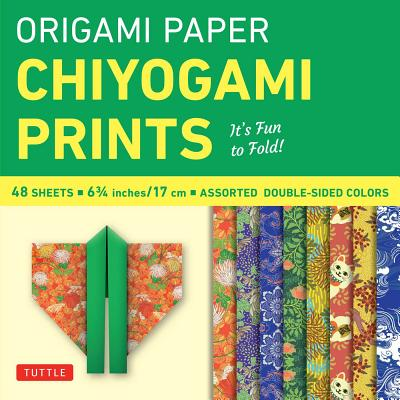 """Origami Paper - Chiyogami Prints - 6 3/4"""" - 48 Sheets: Tuttle Origami Paper: High-Quality Origami Sheets Printed with 8 Different Patterns: Instructions for 6 Projects Included"""
