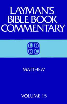 Image for Matthew (Layman's Bible Book Commentary Volume 15)