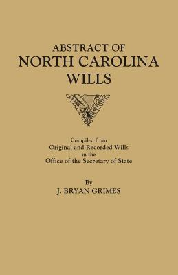 Image for Abstract of North Carolina Wills [1663-1760]