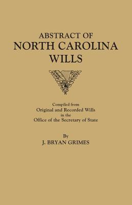 Image for Abstract of North Carolina Wills [1663-1760]