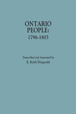 Image for Ontario People: 1796-1803: With Introduction and Index by Norman K. Crowder