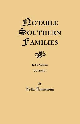 Image for Notable Southern Families, Volume I
