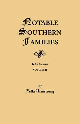 Image for Notable Southern Families, Volume II