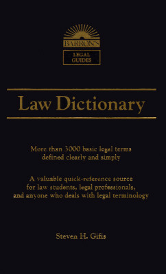 Image for Barron's Law Dictionary