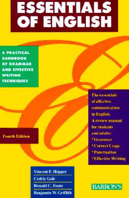 Image for ESSENTIALS OF ENGLISH