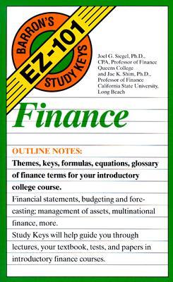 Image for Finance (Barron's Ez-101 Study Keys)