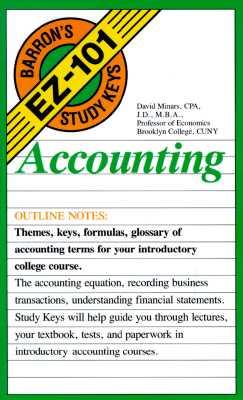 Image for Acounting: Barron's E Z 101 Study Keys
