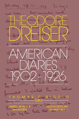 Image for The American Diaries, 1902-1926 (The University of Pennsylvania Dreiser Edition)