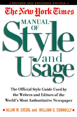 Image for The New York Times Manual of Style and Usage