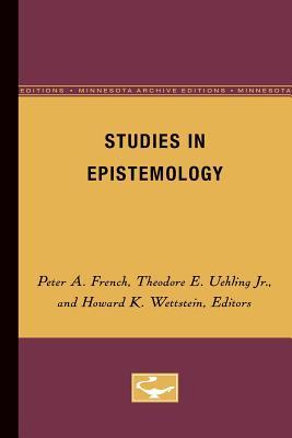 Image for Studies in Epistemology (Volume 5) (Midwest Studies in Philosophy)