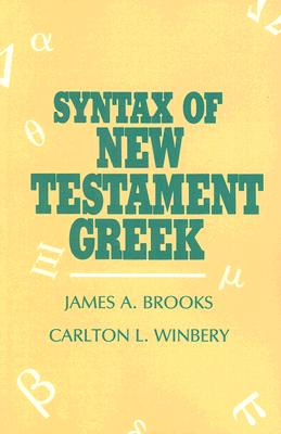 Image for Syntax of New Testament Greek