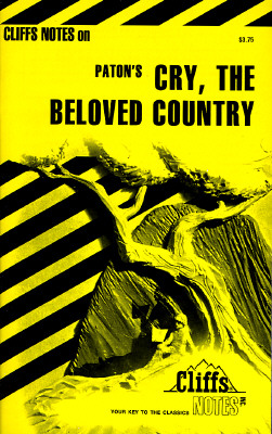Image for Cry, the Beloved Country (Cliffs Notes)