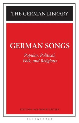 Image for German Songs: Popular, Political, Folk, and Religious (German Library)