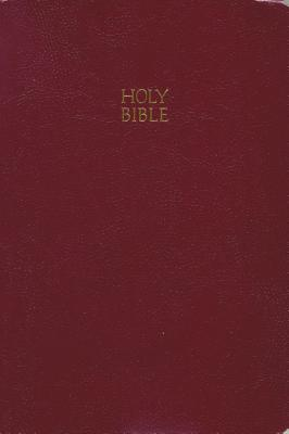 "Image for ""KJV, End-of-Verse Reference Bible, Giant Print, Imitation Leather, Burgundy, Red Letter Edition"""